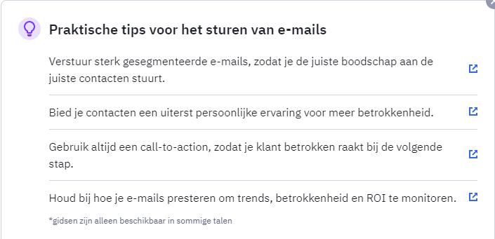 praktische tips voor het versturen van e-mails