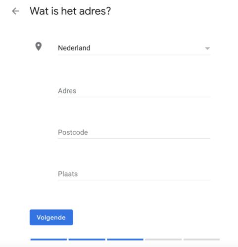 Adresgegevens toevoegen binnen Google Mijn Bedrijf